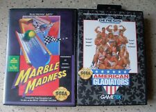 Vintage Sega Genesis Video Games, Lot of 2, with Box and Instructions, Set A