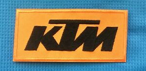 KTM MOTOCROSS RACING TRIALS TRAILS DIRT BIKE OFF ROAD BADGE IRON SEW ON PATCH