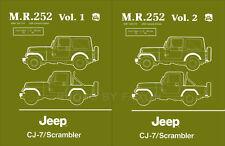 1984 1985 1986 Jeep CJ7 and Scrambler Repair Shop Manual CJ 7 Renegade Laredo