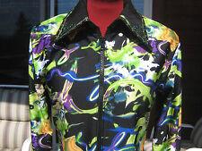 black purple green swirls Horsemanship rail pleasure show shirt Jacket S M