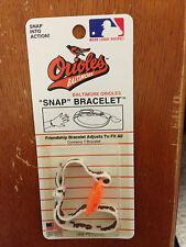 BALTIMORE ORIOLES MLB Team Logo Snap Bracelet one size fits all Brand NEW!!