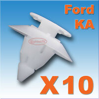FORD KA WHEEL ARCH TRIM CLIPS FRONT WING REAR QUARTER BUMPER PLASTIC FASTENER