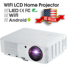 LED Smart Home Theater Projector Android 6.0 4K Wifi BT 1080p FHD 3D Video USA