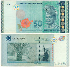 Malaysia $50 P#49 (2007) Bank Negara Malaysia VF