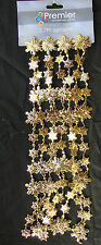 Gold Snowflakes Beaded Garland Decoration Disney Frozen Party Decoration