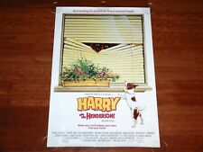 ORIGINAL MOVIE POSTER HARRY & THE HENDERSONS 1987 UNFOLDED ONE SHEET DUTCH