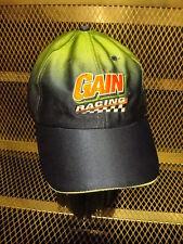 JEFF BURTON #9 ~ GAIN Racinng ~ RARE ~Team Issued Chromatic Strap Back HAT Cap