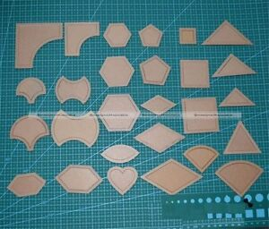 54 Pcs Mixed Quilt Templates Sewing Tool For Patchwork Quilter Styling Tools S8