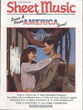 Sheet Music Magazine July Aug 1991 Star Spangled Banner Harry Connick Patriotic