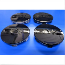 "4 Center Caps For GMC Black Sierra Yukon XL Denali Hub Cap 83mm 3.25"" 9595891"