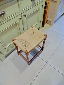 Vintage string top wooden stool