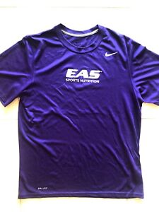 $50 Nike Dri-FIT x EAS Men L Purple Grape Workout Shirt Crossfit Gym Training