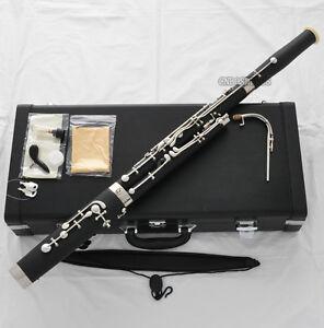 High Grade new Bakelite Bassoon Cupronickel bocals Eb Silver key Hard Case