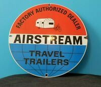 AIRSTREAM PORCELAIN GAS AUTO TRAVEL TRAILERS VINTAGE STYLE SERVICE SALES SIGN