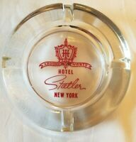 Vintage Around The World Hotel Statler New York City ACL Glass Ashtray MINT COND