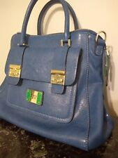 GUESS purse tote satchel handbag blue green gold colors with strap