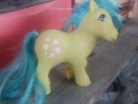 Vintage My Little Pony TOOTSIE Green Blue Pink Lollipops Suckers G1 MLP BG631