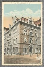 Antique c1918 Postcard: Post Office Syracuse New York NY Unposted