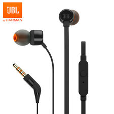 JBL T110 3.5 Wired Stereo Music Bass Earbuds Headset Sports Microphone Earphones