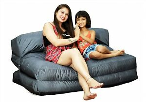 handmade cover XXXL Outdoor Bed Bean Bag Without Beans Grey (Without Fillers)
