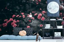 New Listing3D Pink Floral Branch Wallpaper Wall Murals Removable Wallpaper 2