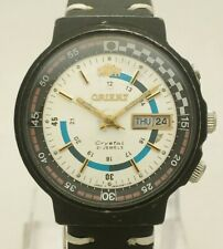 Vintage Orient Crystal TE469266-7A Rally Style Japan Automatic 46941 Men's Watch