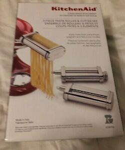 KitchenAid KSMPRA 3-Piece Pasta Roller & Cutter Set NEW