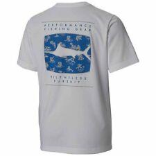 Mens Columbia Pfg Terminal Tackle Compass Short Sleeve S/S Fishing Shirt Large