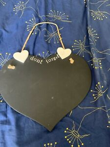Heart Shaped Chalkboard With Dont Forget At Top