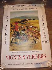 ancien affiche Hameau du Vin Romaneche 71 expo peinture Michel Jouenne1994