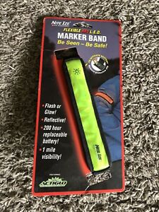 Nite Ize LED Marker Band Red Wave Safety Glow and Flash Modes, Cycling