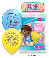 "6 pc 12"" Disney Doc McStuffins Party Latex Balloons Happy Birthday Dottie Animal"