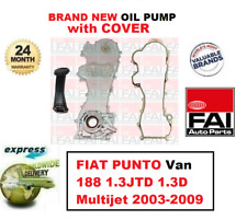 FOR FIAT PUNTO Van 188 1.3JTD 1.3D Multijet 2003-2009 NEW FAI OIL PUMP + COVER