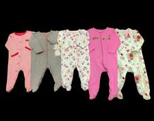 Baby Girl 6 months 6-9 months Cotton Carter's Footed Pajama Clothes Lot