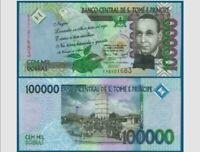 Saint Thomas et Prince - 100.000 Dobras 2005-Pick - 69 A -universel