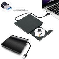 Slim External USB 3.0 DVD-RW CD Writer Drive Burner Reader Player For Laptop PC
