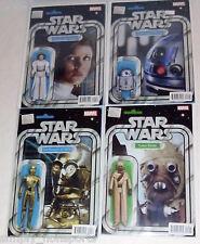4X LOT MARVEL STAR WARS ACTION FIGURE VARIANT LEIA,R2-D2, C-3P0 & TUSKEN RAIDER