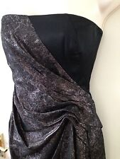 BNWT KAREN MILLEN SIZE 8 PEWTER AND BLACK DRESS RRP £175