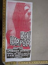 MB/2006 Rock Roll Concert Poster Ben Harper Print Mafia S/N LE # 100 Phoenix