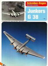 Junkers G 38 Plane Aircraft 1:100 Schreiber-Bogen Paper Model