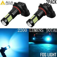 Alla Lighting 2x 2200lm H10 9145 Ice Blue Auto Truck LED Fog Light Driving Bulb