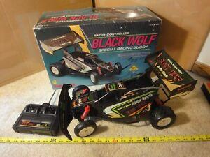 Vintage Radio Shack, Radio Control, Black Wolf off road dune buggy, R/C Car. NOS