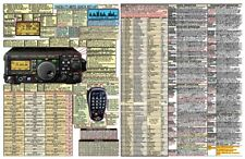 YAESU FT-897D FT-897 AMATEUR HAM DATACHART EXTRA LARGE