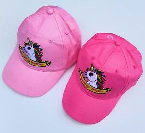 Kids Rainbow Unicorn Cap Girls Summer Sun Hat 3-8 Years