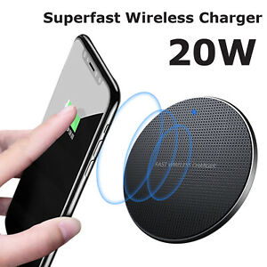 20W Wireless Charger, Superfast charging Pad for iPhones & Samsung Qi Phones