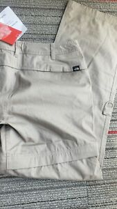 The North Face Convertible Pants Hiking Zip Off Shorts Women Size M 100% cotton