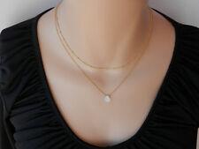 Set-Beautiful Minimalist Moonstone Necklace and Sterling Silver Choker