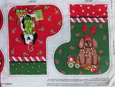 Fabric Panel Christmas Dog Pet Stocking & Pillow Kimberly Montgomery