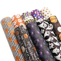 Halloween Christmas Series Printed Faux Leather Sheet Bundle Assorted Pack Set