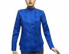 Slim-fit Damen Bluse Gr.XL sax blau